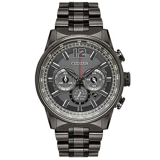 Citizen Reloj de hombre eco-drive correa y caja de acero CA4377-53H: Amazon.es: Relojes