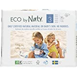 Eco by Naty Premium Disposable Diapers for Sensitive Skin, Size 3, 6 Packs of 30 (180 Diapers)