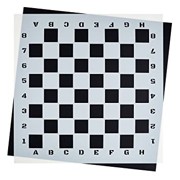 Amazon.com: Large CHECKERBOARD STENCIL for Painting on Wood ...