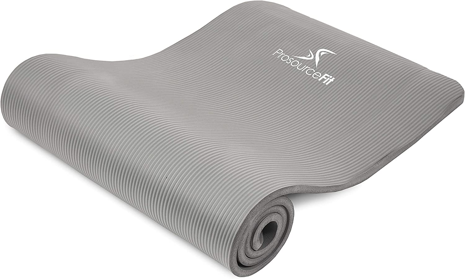 ProsourceFit Extra Thick Yoga and Pilates Mat ½ (13mm), 71-inch Long High Density Exercise Mat with Comfort Foam and Carrying Strap, Grey : Sports & Outdoors