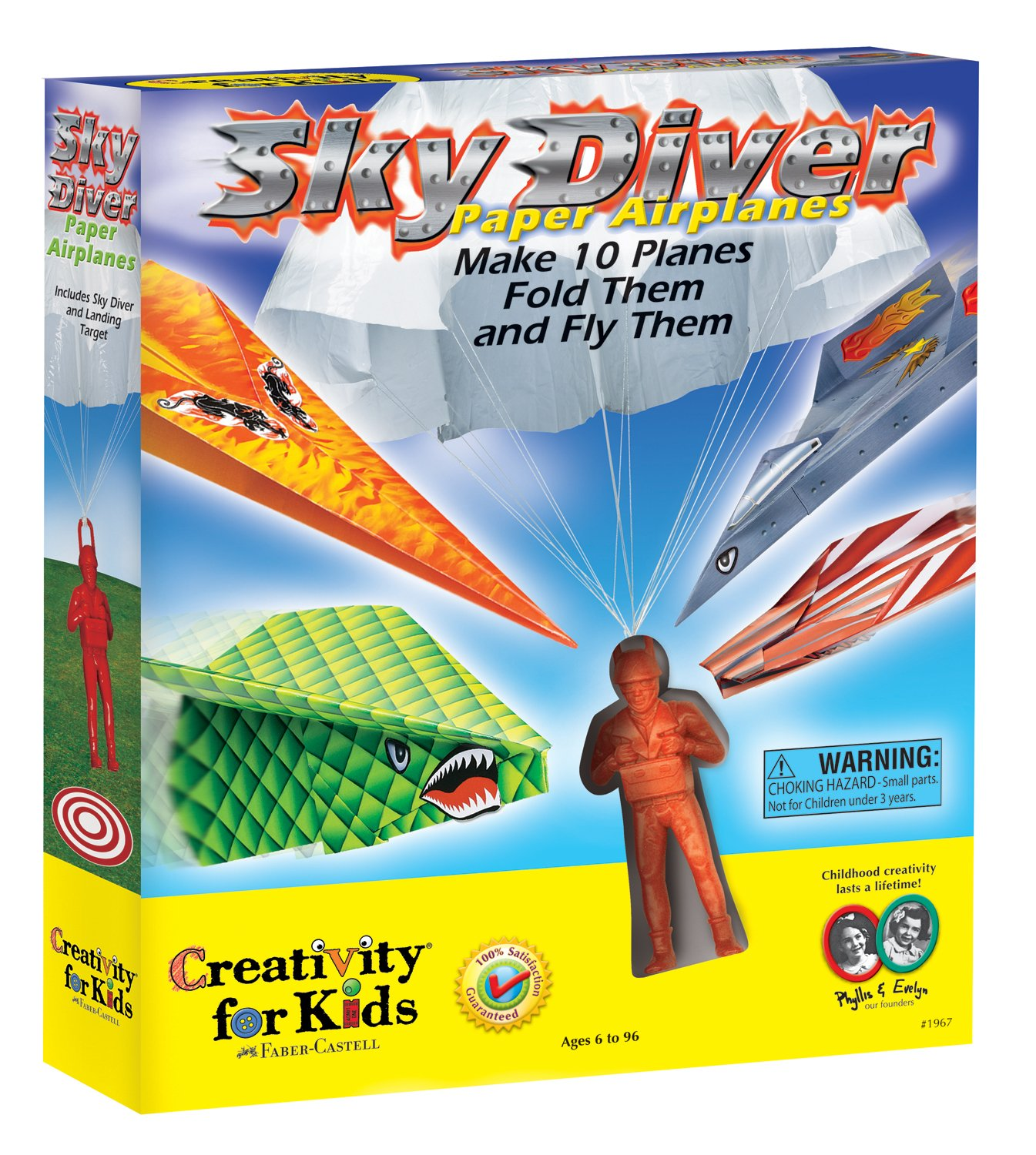 amazon com creativity for kids sky diver paper airplanes toys