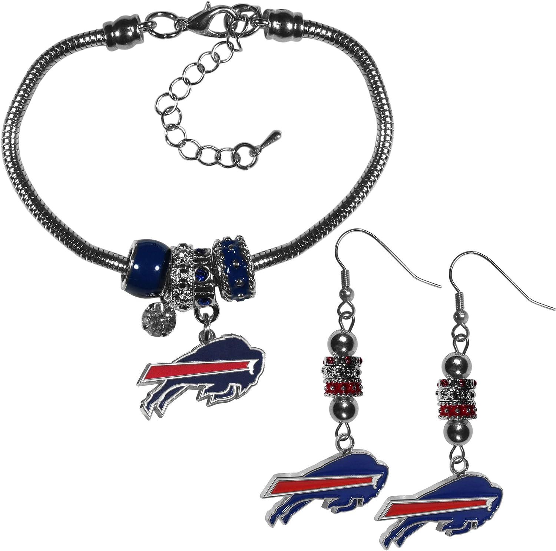 NFL Buffalo Bills Womens Euro Bead Bracelet