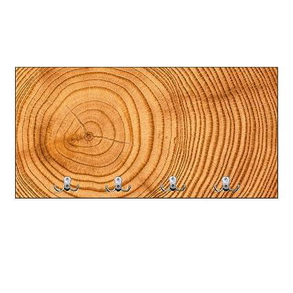 Perchero de pared marrón con 4 dobles y diseño: diseño de ...