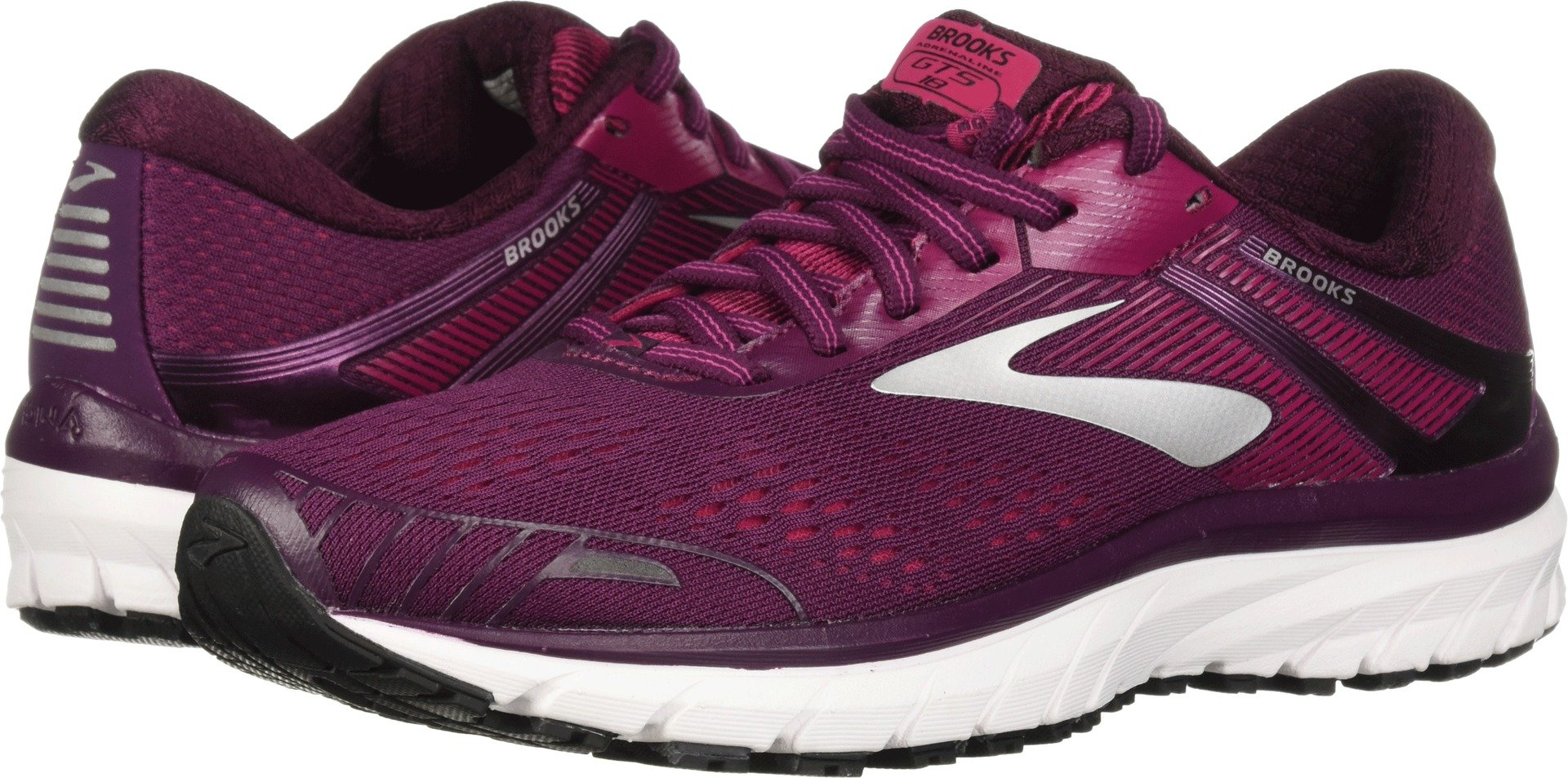 Brooks Women's Adrenaline GTS 18 Purple/Pink/Silver 5 B US