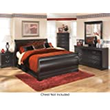 Amazon.com: Laguna Queen Platform Bed With Headboard, Black ...
