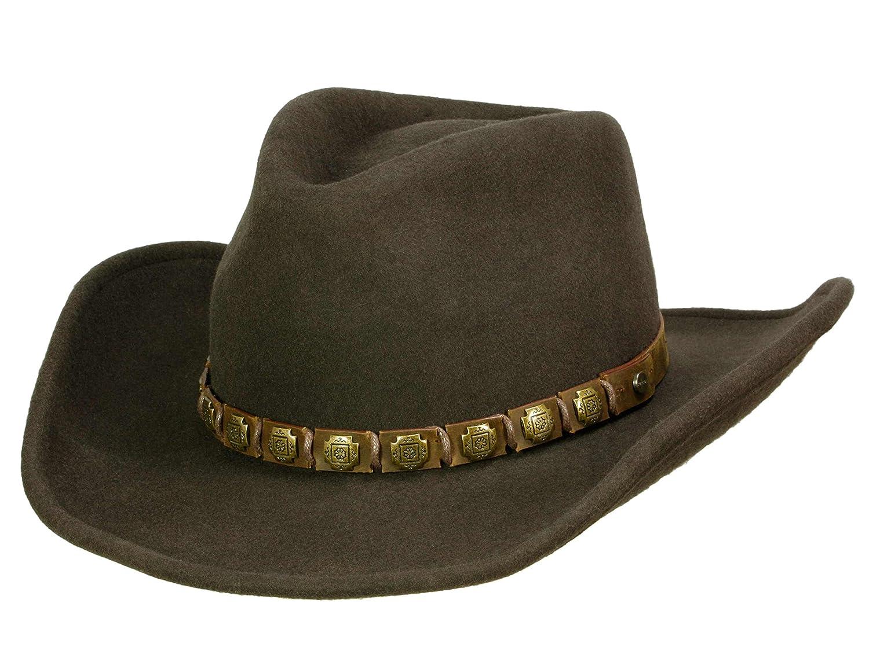 Stetson Hackberry Traveller für Herren Wollhut Cowboyhut Wollfilzhut mit Lederband Winter Sommer 3598102