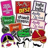 Party Propz™ Set of 16 Pieces Wedding Photo Booth/ Mehandi Props/ Sangeet Props/ Bachelorette Props