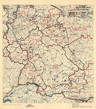 germany 1945 map 22 inch x 24 inch frame ready june 21