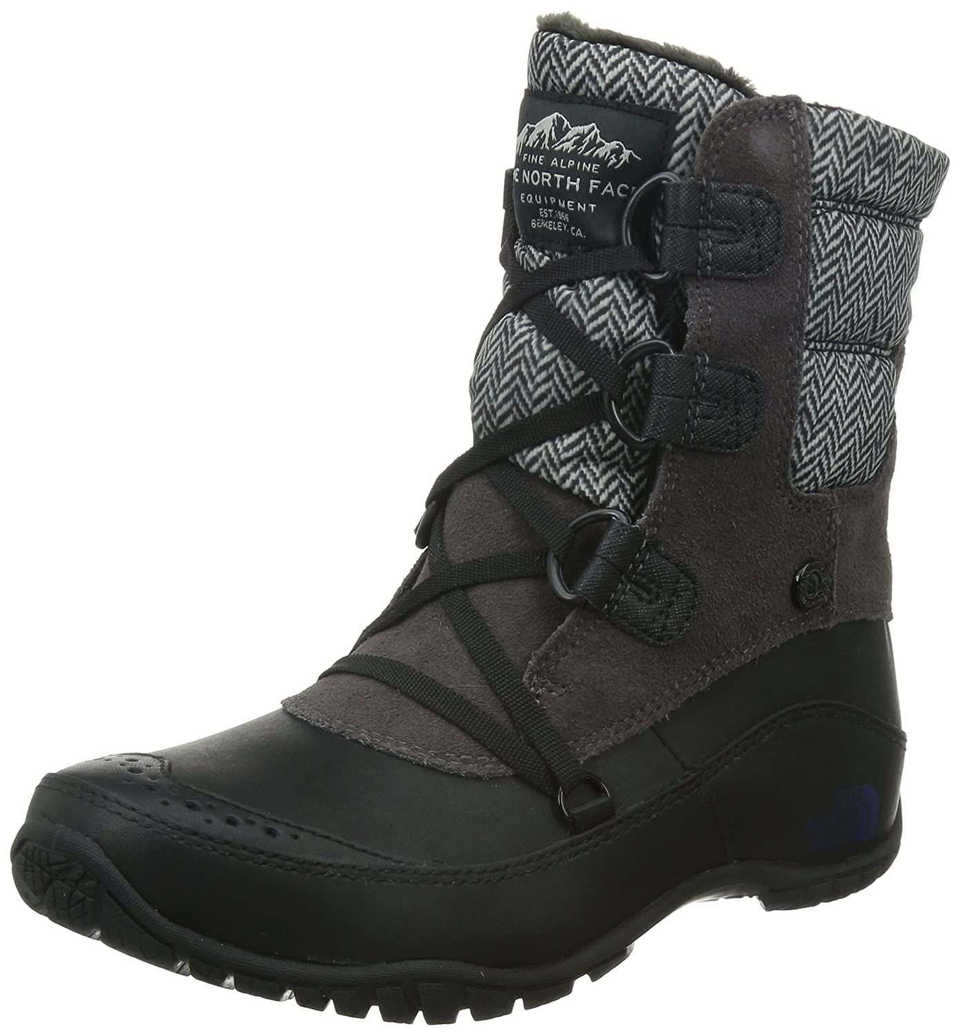 The North Face Nuptse Purna Shorty Boot Women's B00RW5N9BS 10.5 B(M) US|Plum Kitten Grey/Astral Aura Blue (Prior Season)