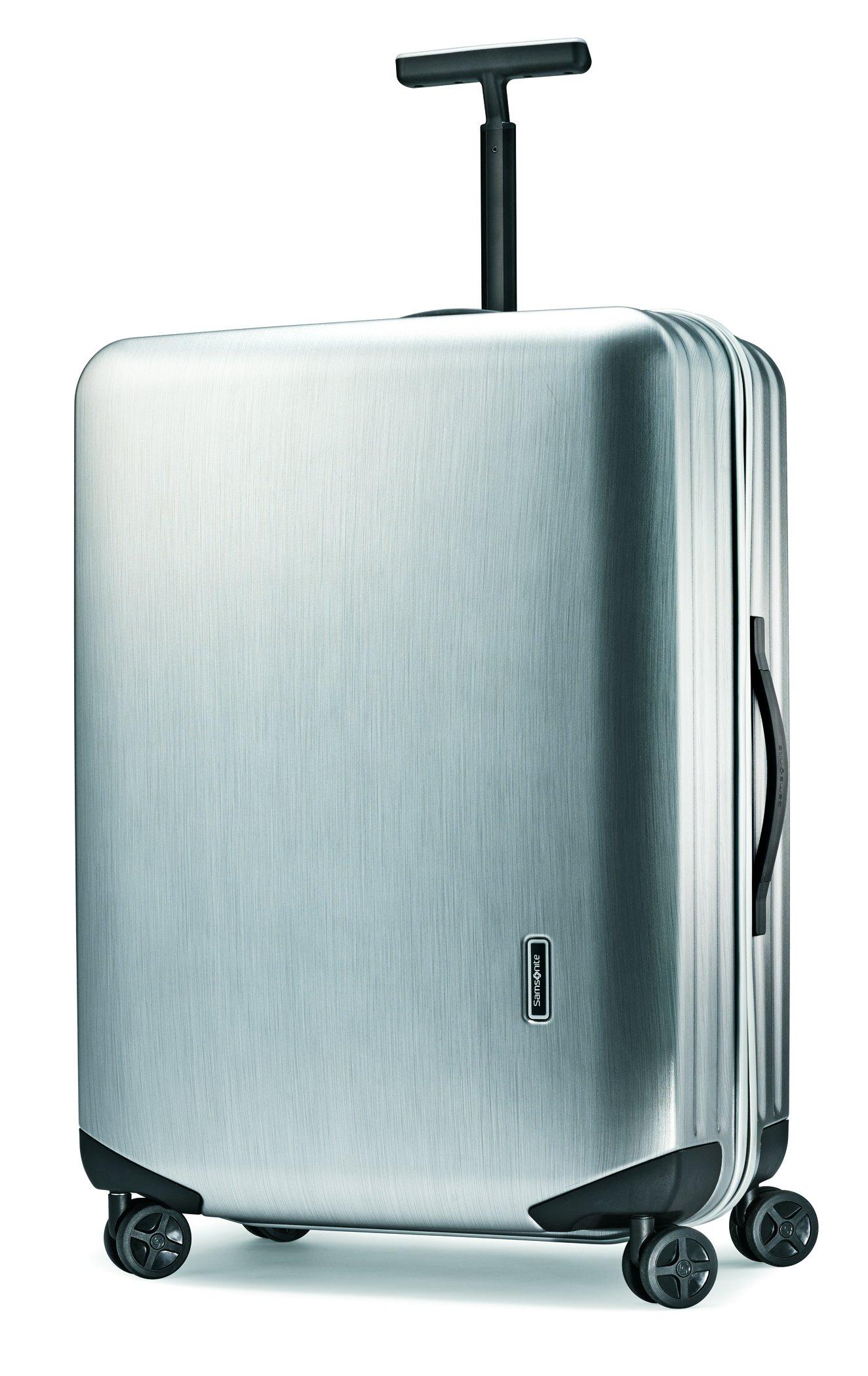 Samsonite Inova Hardside Luggage with Spinner Wheels, Metallic Silver, Checked-Large 28-Inch