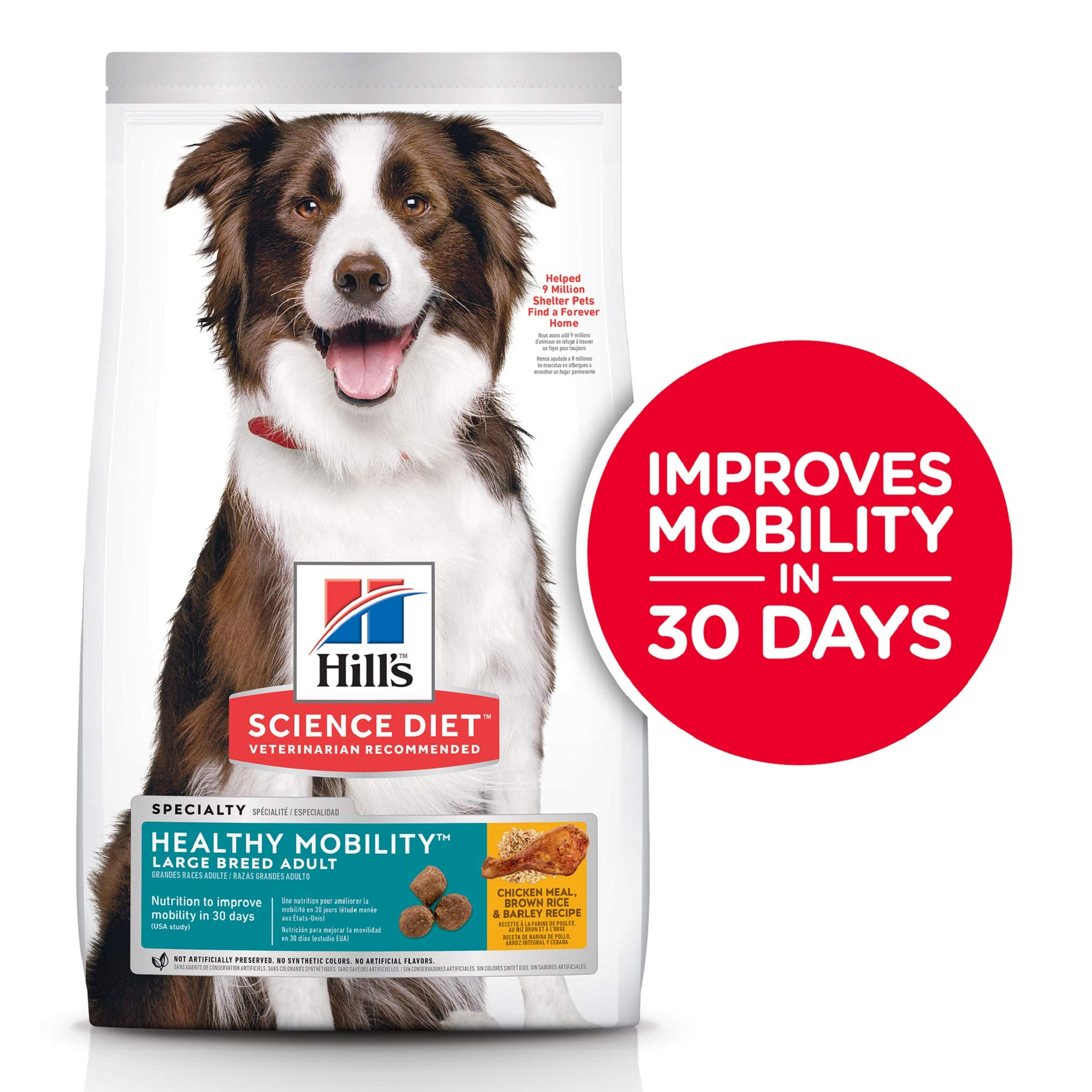Hill's Science Diet Dry Dog Food, Adult, Large Breed, Healthy Mobility for Joint Health, Chicken Meal, Brown Rice…