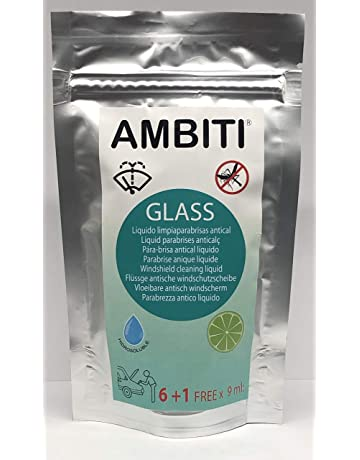 Ambiti Glass, monodosis hidrosolubles concentradas para el depósito del limpiaparabrisas, antical, antimosquitos,