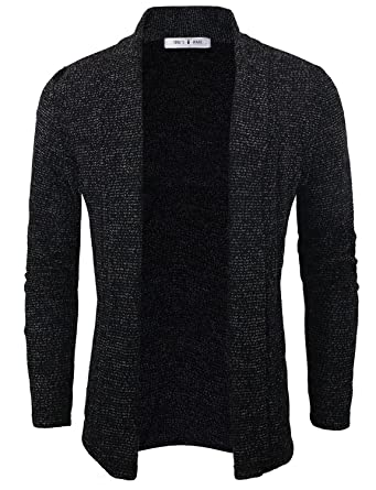 Tom's Ware Mens Classic Slim Fit Knit Open-Front Cardigan at ...