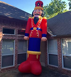16 ft gemmy prototype christmas nutcracker holiday for Airblown nutcracker holiday lawn decoration
