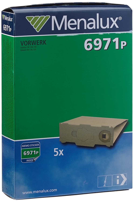 Menalux 6971 P 5 x Vacuum Bag for Vorwerk