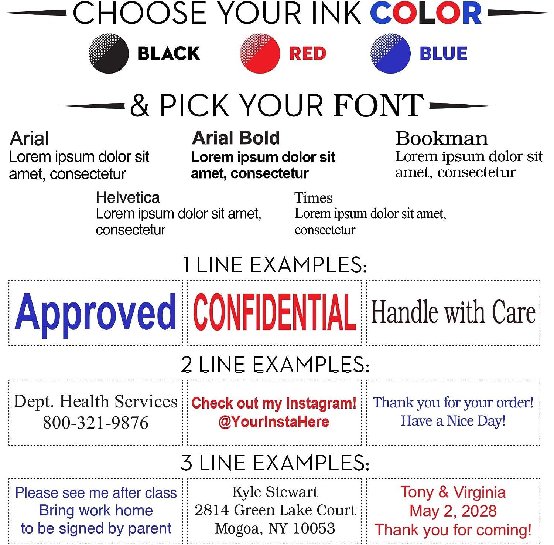 Custom 2 Line Self-Inking Stamp