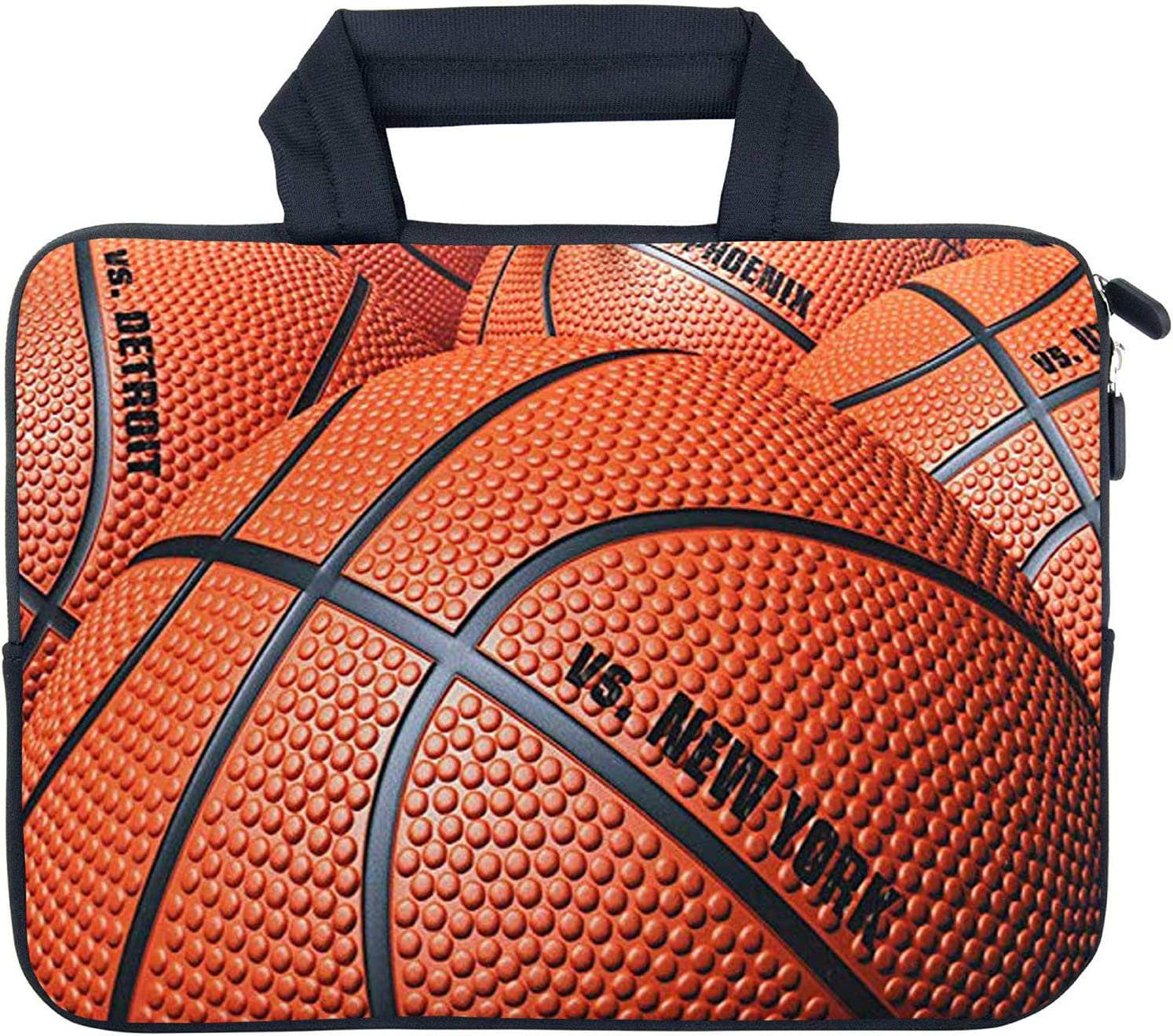 """AMARY Chromebook Sleeve 11.6"""" 12"""" 12.1"""" 12.5 inch Laptop case Chromebook Bags MacBook air Sleeve Fit Apple MacBook Air HP DELL Lenovo Asus Samsung (Basketball)"""
