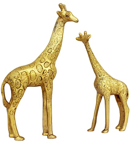 Attrayant TOS365 Show Pieces For Living Room Brass Giraffe Statue In Pair Showpiece  Home Décor Decoration Gifts