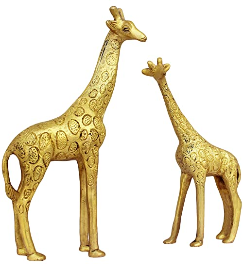 ITOS365 Show Pieces For Living Room Brass Giraffe Statue In Pair Showpiece  Home Décor Decoration Gifts