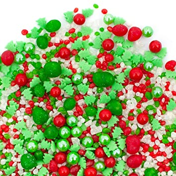 Holiday Candy Sprinkles Candyfetti Deliciously Flavorful Sprinkle Blends Made From Candy O