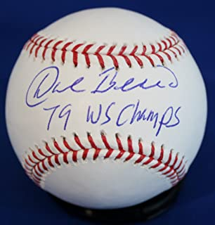 Autographed Dale Berra '79 WS Champs' Official Rawlings MLB Baseball