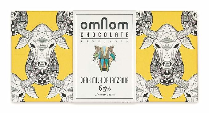 Deliciosa Barra De Chocolate Negro con Leche de Tanzania 65% Cacao De OMNOM | Chocolate