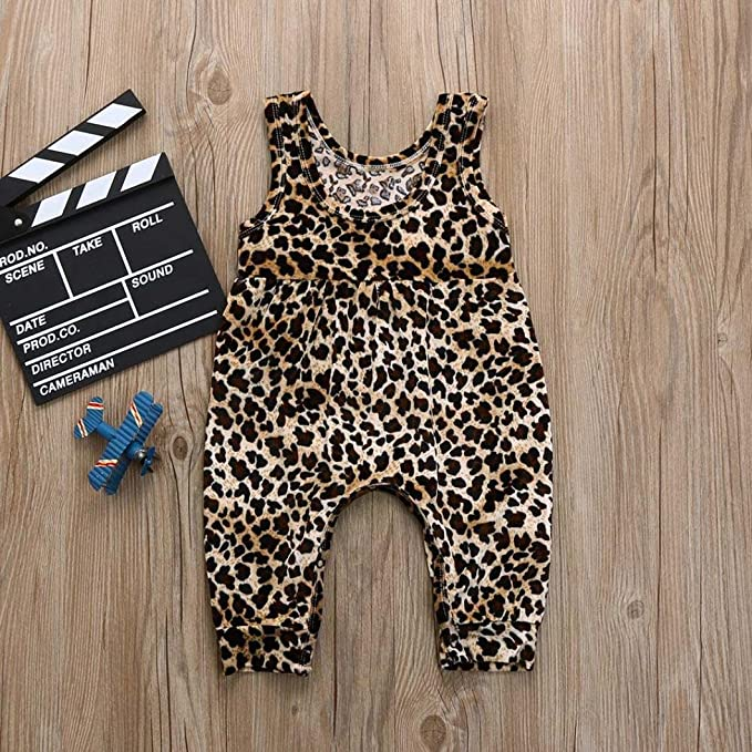 da2d837b225a Fartido Romper Baby Girl Boy Leopard  Jumpsuit Playsuit Clothes ...