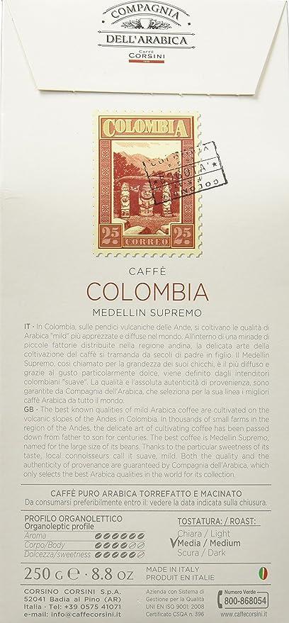 Compagnia dellArabica Café de Colombia - 250 gr: Amazon.es: Alimentación y bebidas