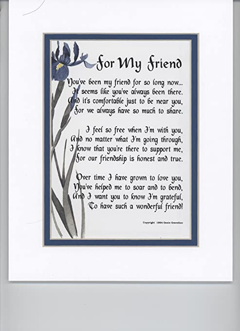 A Gift Poem 18th 21st 30th 40th 50th Birthday Present For Best Friend