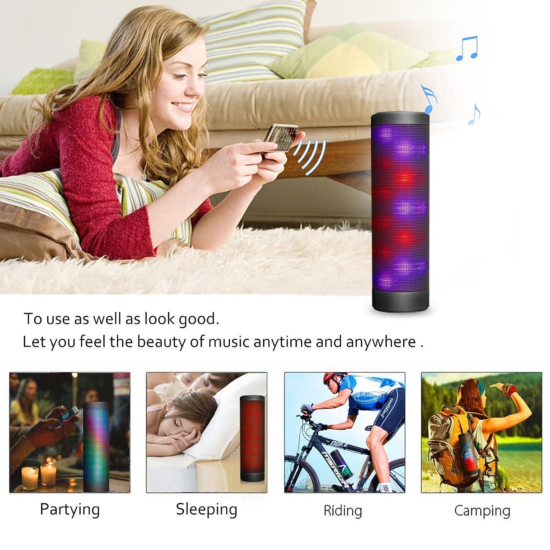 Hip-Hop Bluetoothポータブルライトスピーカー LEDマジックライトスイッチ ハンズフリー   B07K7FSDDG