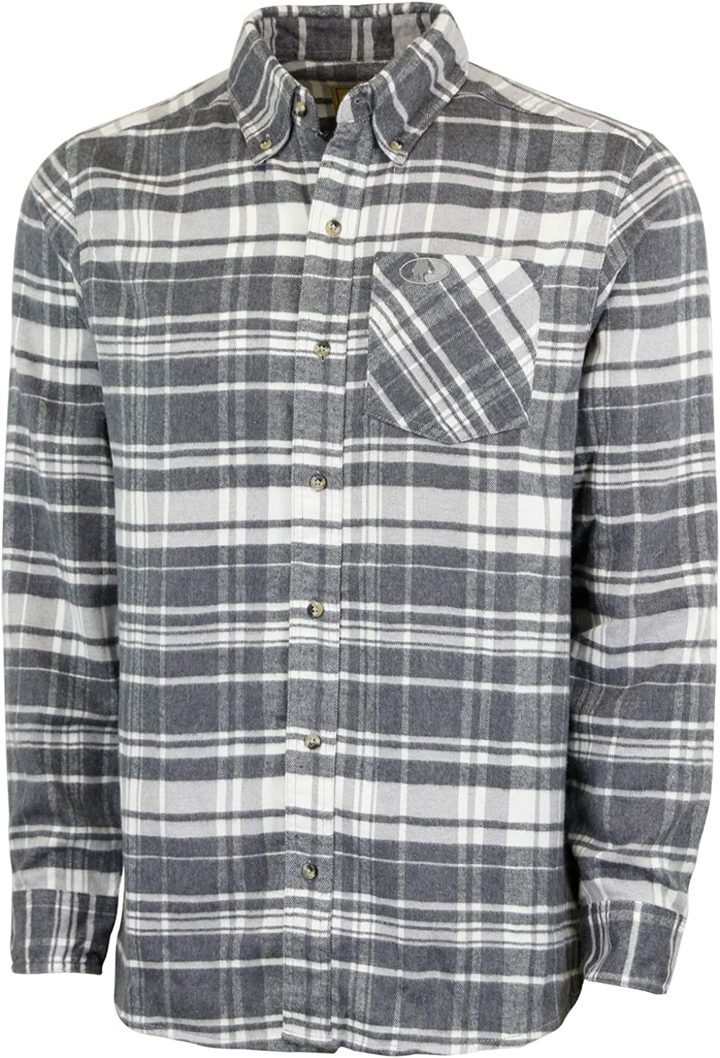 Mossy Oak Flannel Shirt for Men, Buffalo Plaid Long Sleeve Mens Flannel Shirts