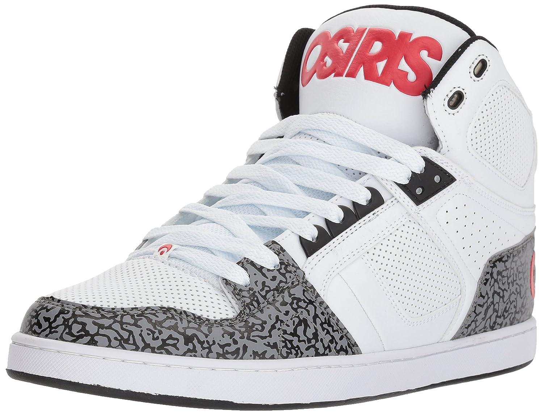 Osiris Men's NYC 83 CLK Skate Shoe 12 D(M) US|White/Red/Elephant