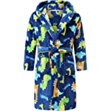 Boys Plush Soft Fleece Printed Hooded Bathrobes Sleep Robe for Toddler Boys Little Boys Big Boys