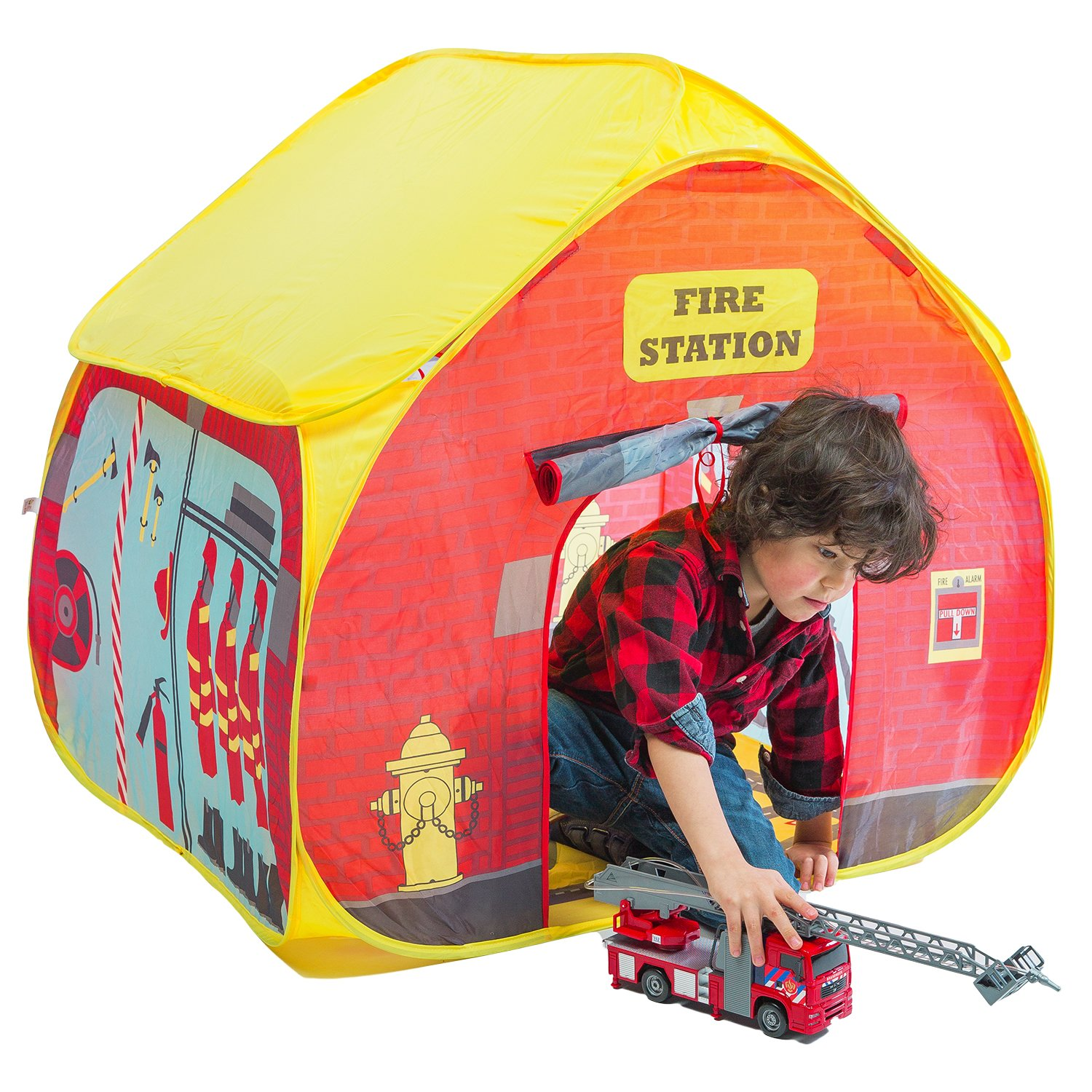 Amazon.com Fun2Give Pop-It-Up Firestation Tent with Streetmap Playmat Playhouse Toys u0026 Games  sc 1 st  Amazon.com & Amazon.com: Fun2Give Pop-It-Up Firestation Tent with Streetmap ...