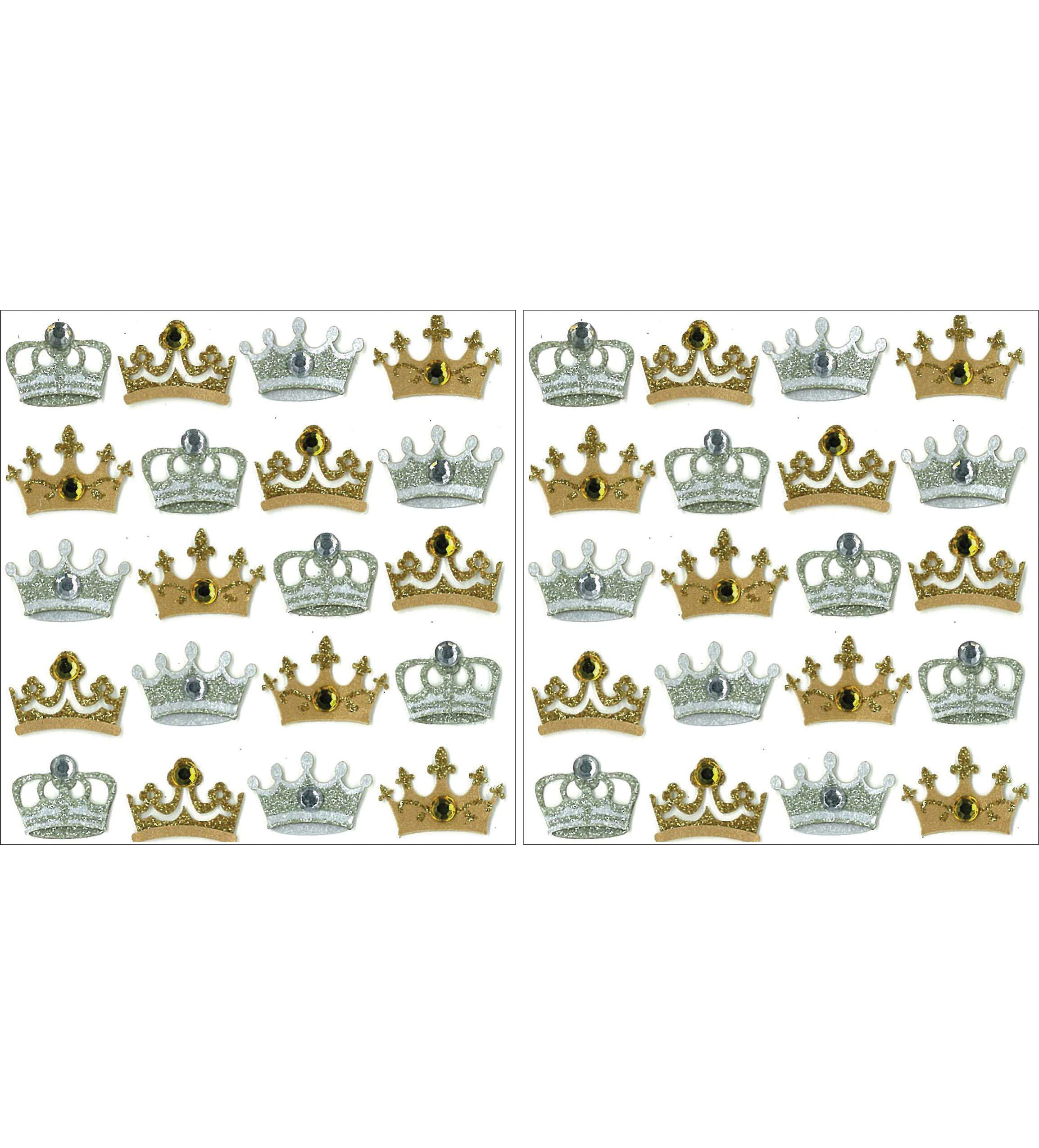 Jolee's Boutique Dimensional Repeat Stickers, Crowns (Twо Pаck)