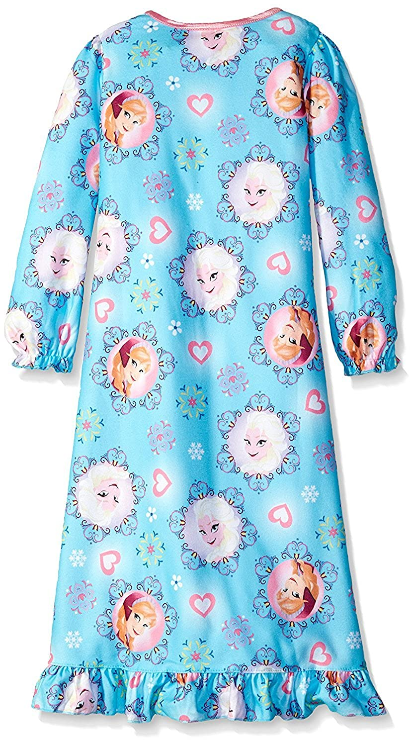 10 Blue Disney Little Girls Frozen Elsa and Anna Snowflakes of Arendelle Nightgown Size 10 Blue