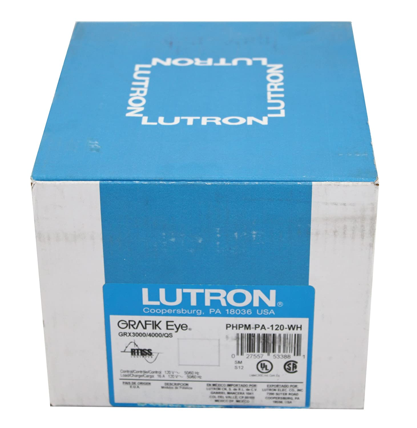 Amazon.com: Lutron PHPM-PA-120-WH Power Mod Phase-Adapter 120V White ...