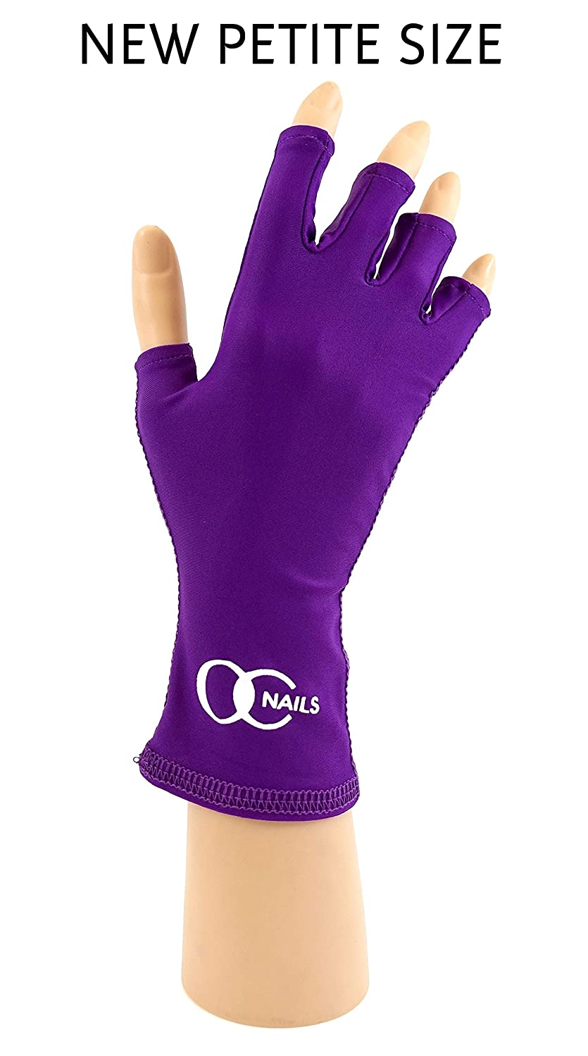 Amazon.com: OC Nails UV Shield Glove (AMETHYST) Anti UV Glove for ...