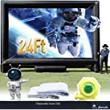 Sewinfla 24Ft Inflatable Movie Screen with Blower - Front and Rear Projection - Blow Up Outdoor and Indoor Projector…
