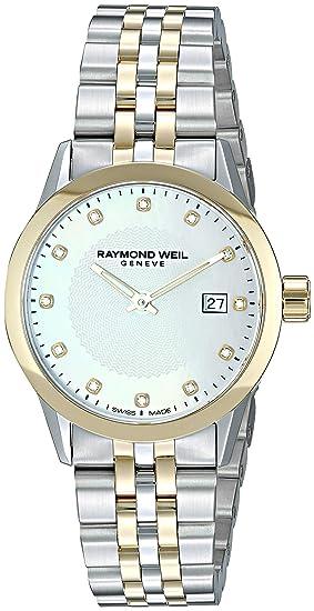 Raymond Weil Freelancer - Reloj de Cuarzo para Mujer, Acero Inoxidable, Color Plateado (