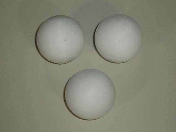 Garlando - Conjunto de 3 balones de futbolín en color blanco ...