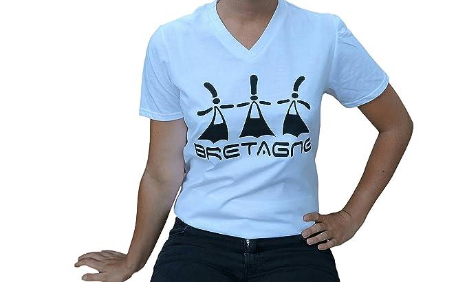 Rêves de Bretagne - Camiseta - para hombre blanco X-Large: Amazon.es: Ropa y accesorios
