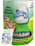 Instant Smile Temporary Tooth Kit - Replace A Missing Tooth in Minutes! Bonus Bag of Impression Material - Natural Color - PATENTED!