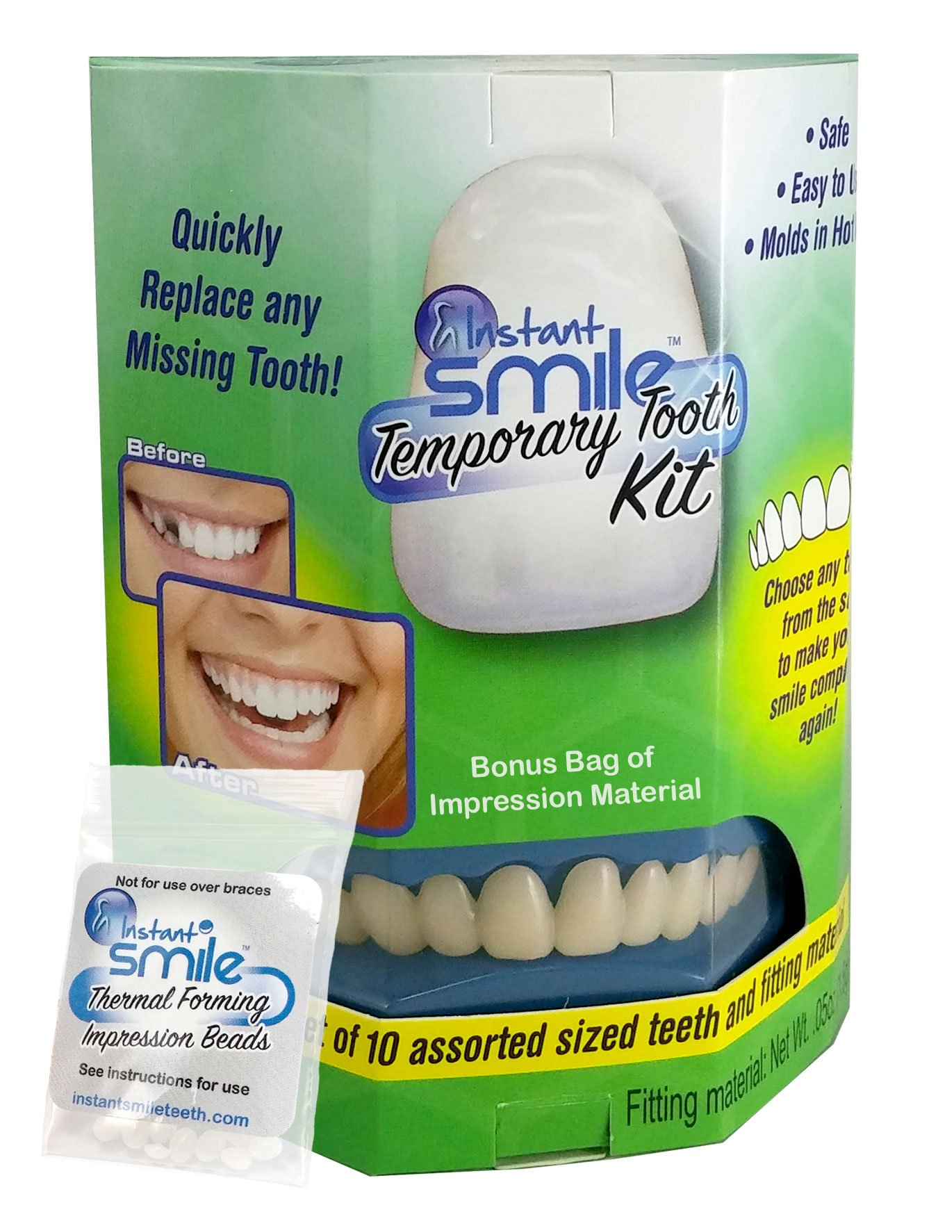 Amazon.com: Temptooth #1 Seller Trusted Patented Temporary Tooth ...