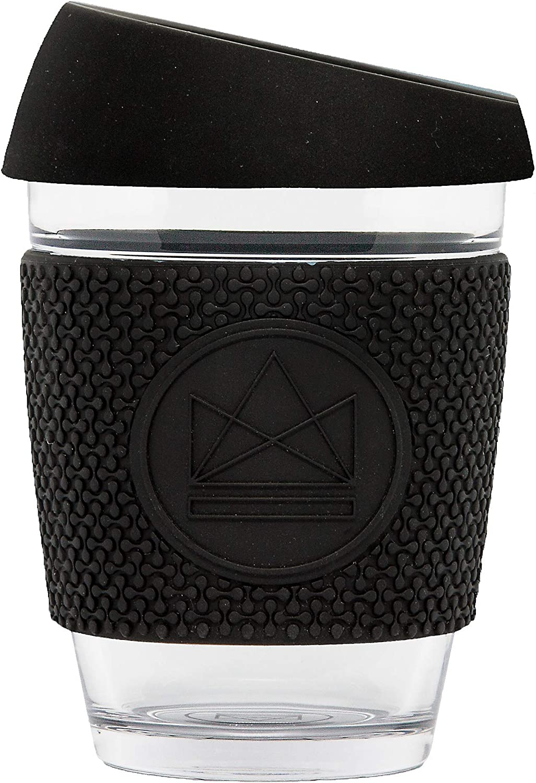 12oz//340ml cristal de borosilicato Coral Taza de caf/é de cristal reutilizable Neon Kactus