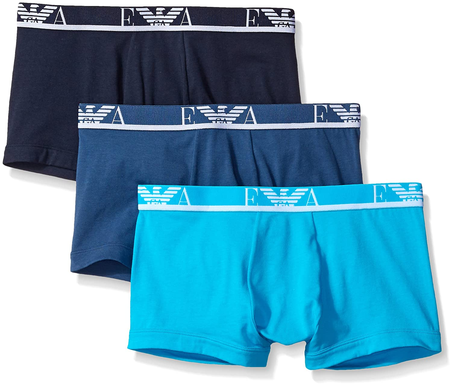 Emporio Armani Intimates Cotton Trunk 3 Pack with Fly Men's Trunks