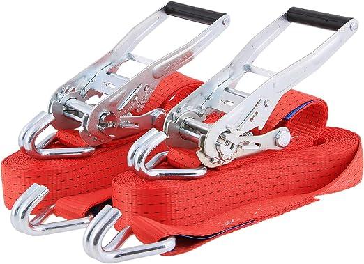 T/ÜV//GS Set di cinghie di fissaggio di alta qualit/à 800 kg 4 m x 25 mm PL-Work borsa per il trasporto cinghie con cricchetto