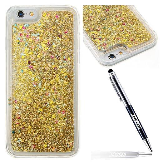 5 opinioni per iPhone 6 6S Custodia Cover in Morbido TPU Silicone, JAWSEU Liquida Sequin
