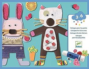 DJECO Le Petite Artist Collages for Little Ones Activity Set