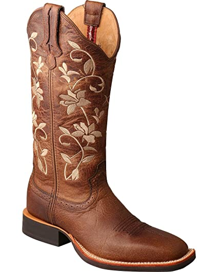 1f6a80591f7 Twisted X Women's Floral Ruff Stock Cowgirl Boot Square Toe